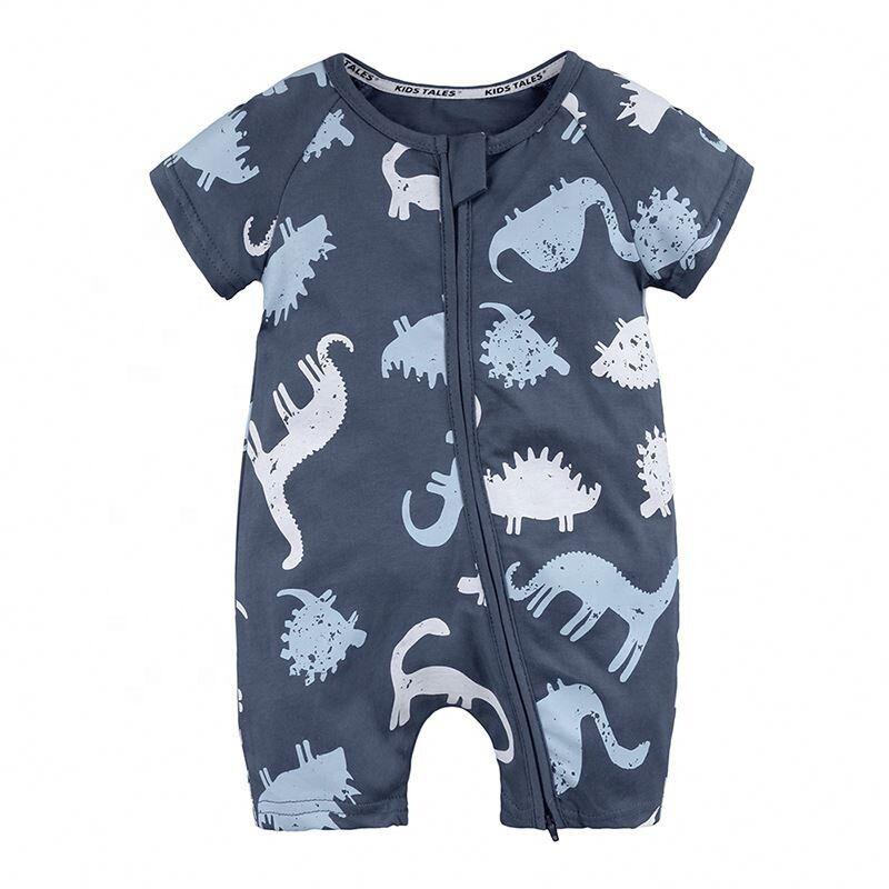 2017 nouvelle Arrivée Bébé Barboteuses Coton Bébé Garçon Fille D'été À Manches Courtes Costume Dinosaure Combinaisons Roupas Bebes Vêtements Pour Bébés