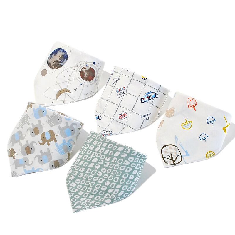 Personnalisé lavable 100% bio coton bébé bavoir bébé turban bavoir dents longues salive