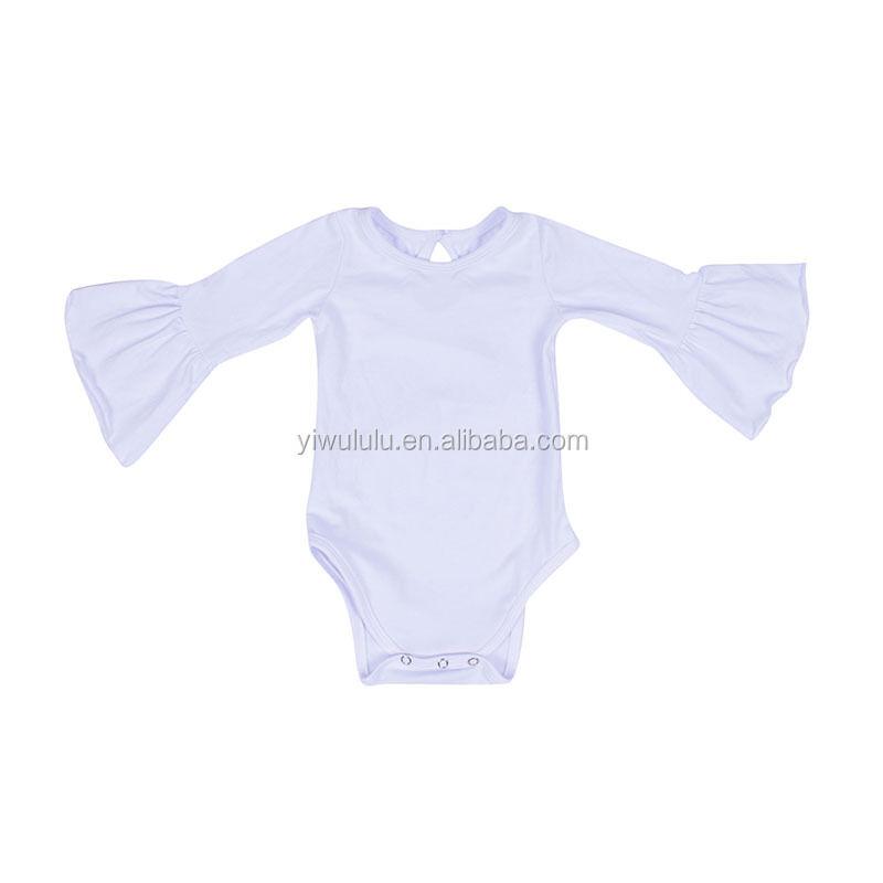 2019 bébé coton blanc tissu barboteuse nouveau-né adorable barboteuse avec boutons-pression