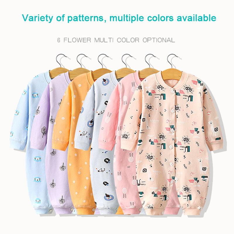 Combinaison bébé 100% coton   Vêtements bébé nouveau-né, manches longues, barboteuse