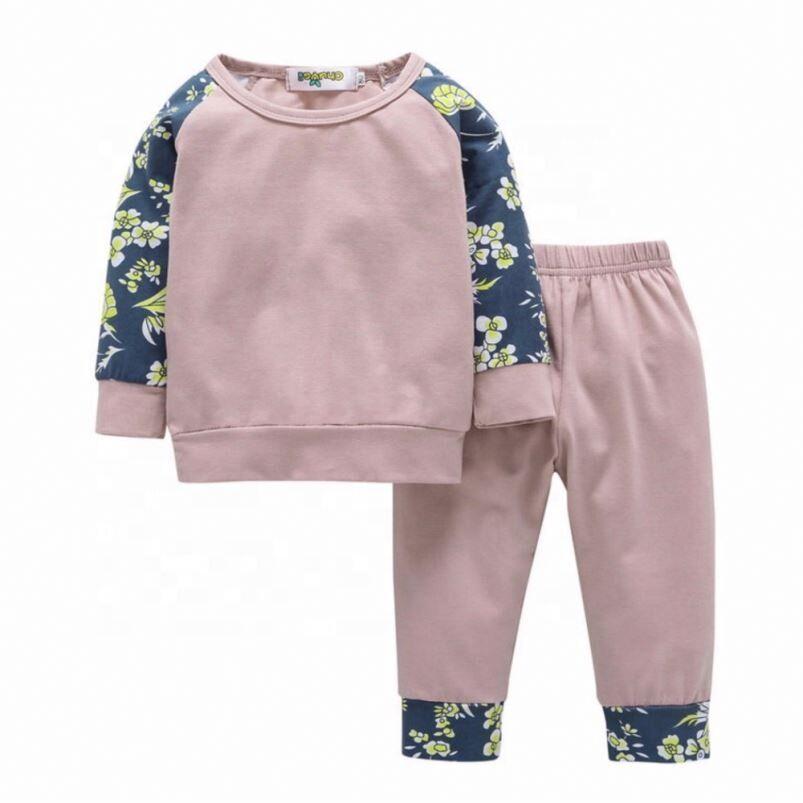 Hiver Nouveau-Né Bébé Garçon Vêtements Enfants Pyjamas Ensembles Enfants Coton Bébé Fille Vêtements Dessin Animé Bébé Vêtements Ensembles Enfants Costume