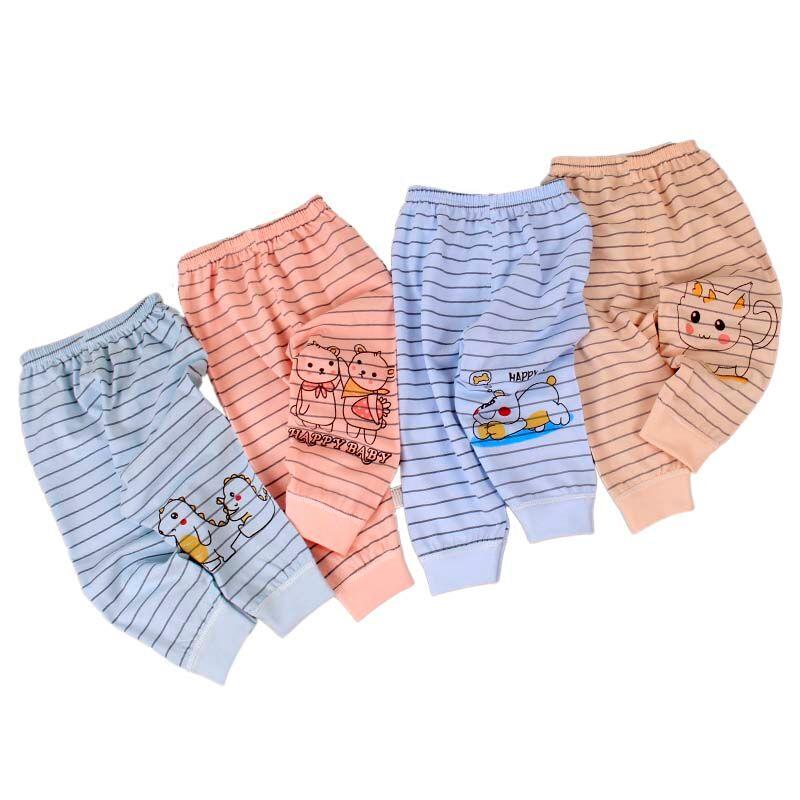 Offre Spéciale gros 2020 nouveau design 100% coton bébé 0-3 ans bébé rayé tricot pantalon bébé pantalon Sarouel