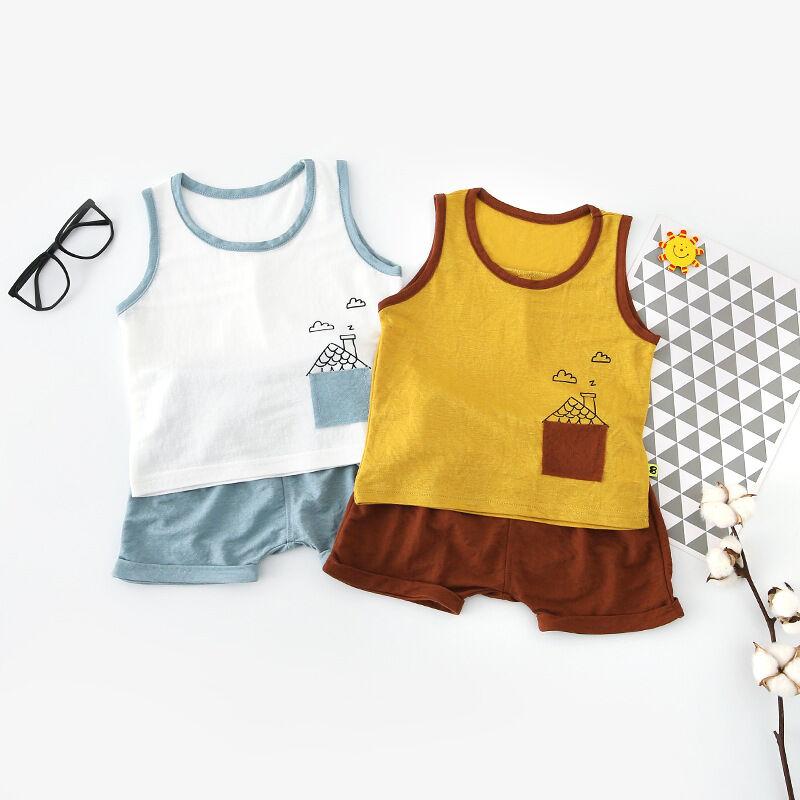 Livraison Gratuite De Haute Qualité 100% Coton Bébé Enfants Doux Vêtements Enfants Body 2 pièces vêtements ensemble