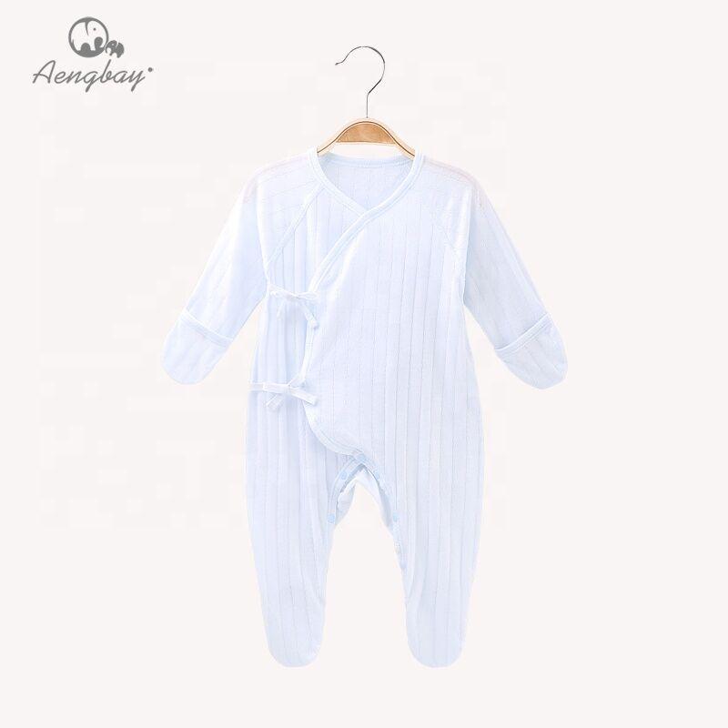 Q008H3 Aengbay Chine fabrication boutons bébé vêtements coton bébé barboteuse