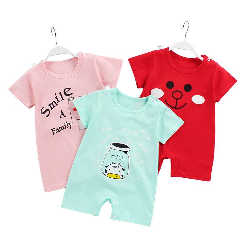 Été Coton Bébé Combinaison À Manches Courtes Barboteuse Bébé Vêtements Bébé Nouveau-Né Vêtements En Gros
