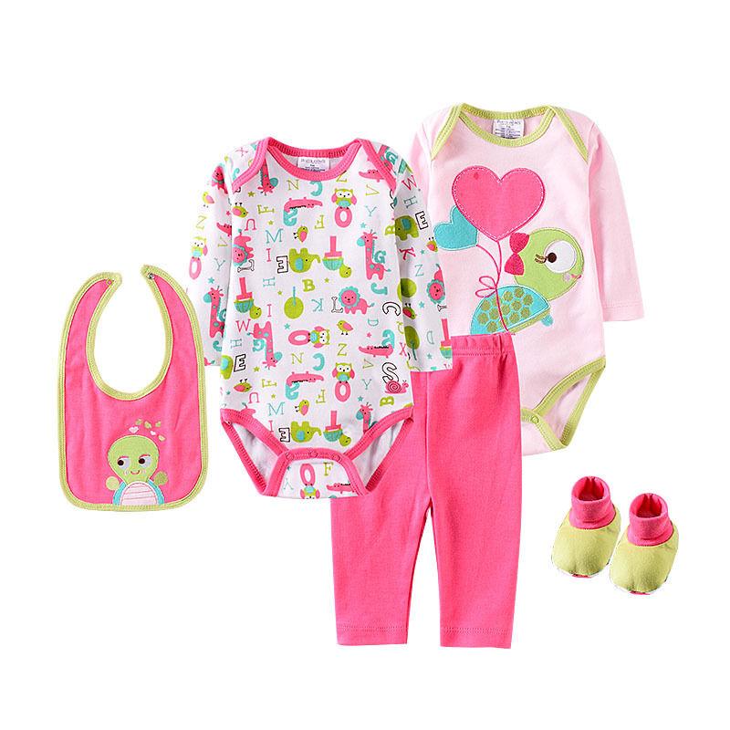Bébé vêtements ensembles vêtements Guangzhou en gros 100% coton 3 mois bébé garçon vêtements animaux fantaisie body bébé ensembles