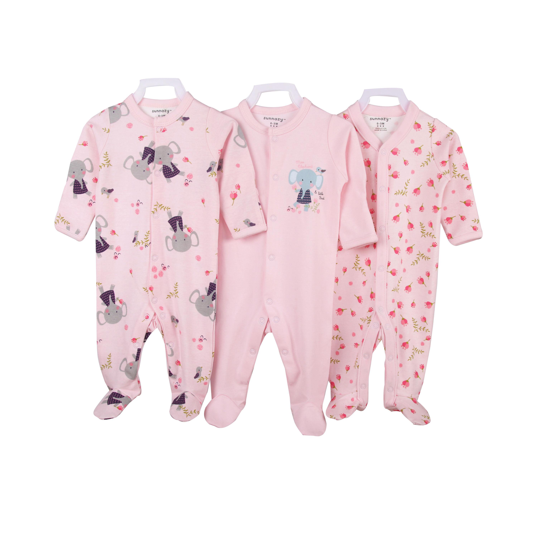 En gros 3 Pack coton vêtements bébé combinaison bébé barboteuse pyjama