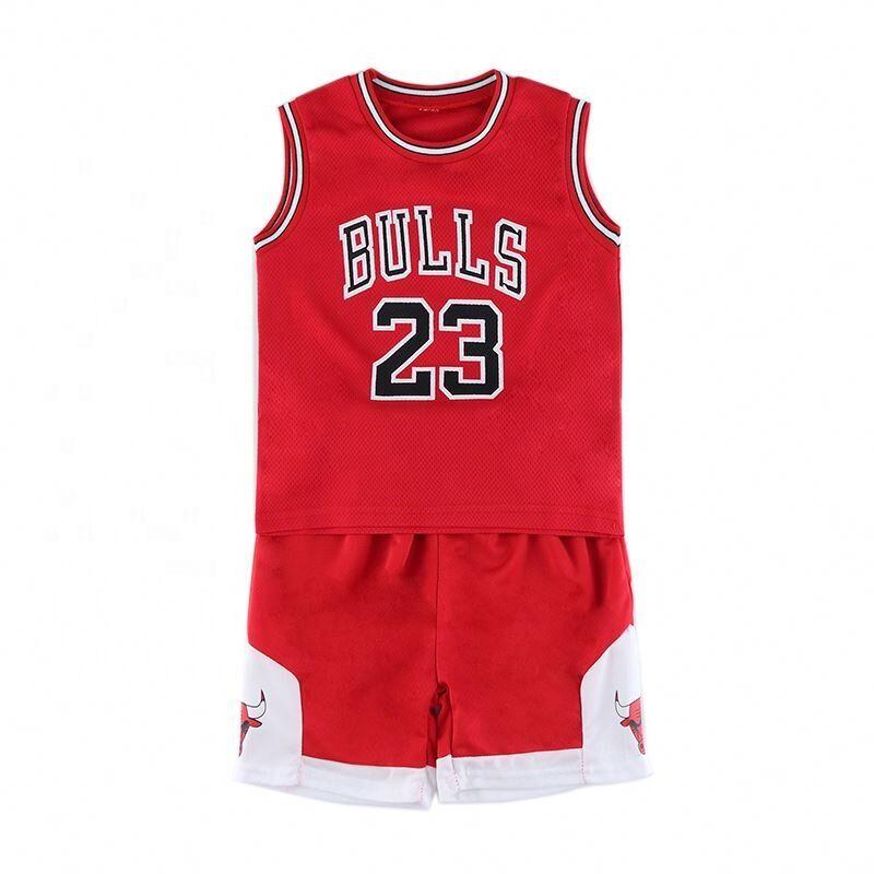 En gros polyester maillot de basket réversible pas cher pour les enfants