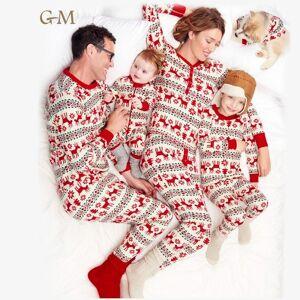 Logo personnalisé Correspondant À La Famille Pyjamas De Noël Père Noël Vêtements De Nuit En Coton Enfants Pyjamas - Publicité