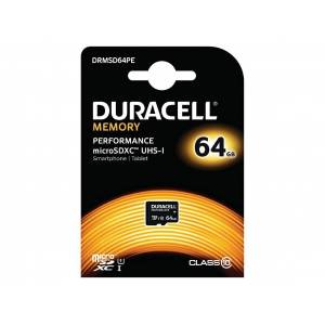 Duracell Micro SDXC Card with SD Adapter 64GB/Class 10 UHS-1 - DRMSD64PE