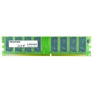2-Power Mémoire 1GB DDR 400MHz DIMM - 2P-PBDM400-1GB