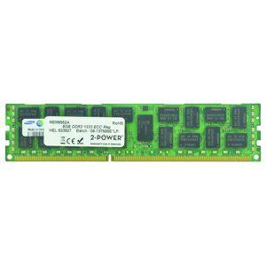 2-Power Mémoire 8GB DDR3 1333MHz ECC RDIMM 2Rx4 LV - MEM8552A