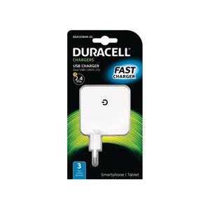 Duracell Chargeur pour téléphones et tablettes iPhone/iPad & Android - DRACUSB4W-EU
