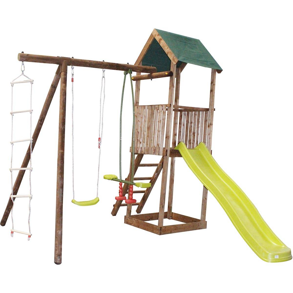 SOULET Aire de jeux en bois portique tour et toboggan - Libellule