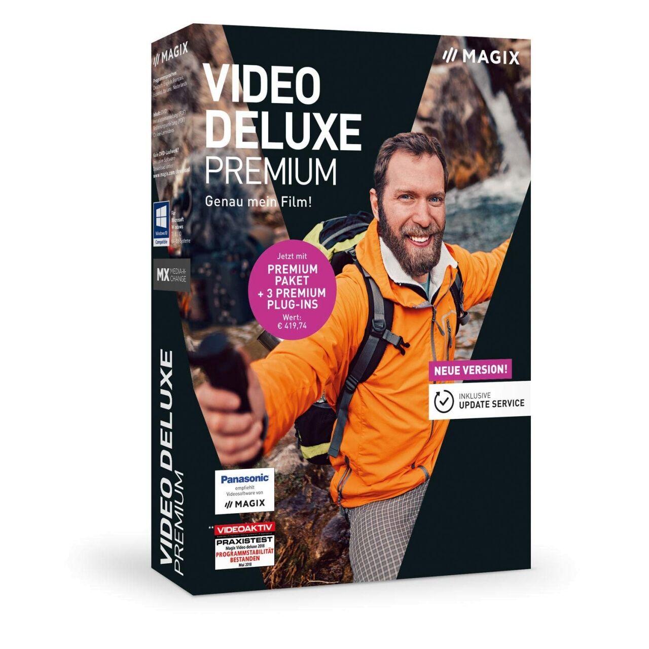 MAGIX Video Deluxe 2019 Premium Gagnez Télécharger BOX (DVD)