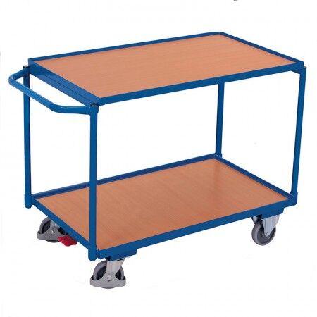 Axess Industries Servante d'atelier à 2 plateaux bois - charge lourde   Dim. utiles Lxl 850 x ...