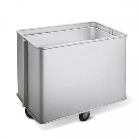 Axess Industries Chariot aluminium à fond mobile   Volume 223 L   Type de roues Roues standards