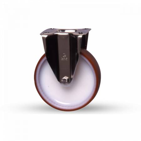 Axess Industries Roulette fixe en tôle d'acier
