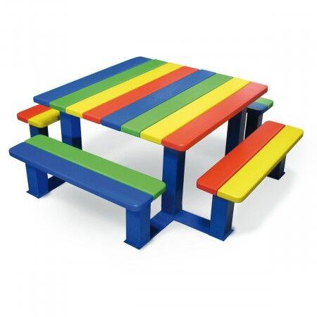 Axess Industries Table de pique-nique avec banquettes intégrées pour enfants