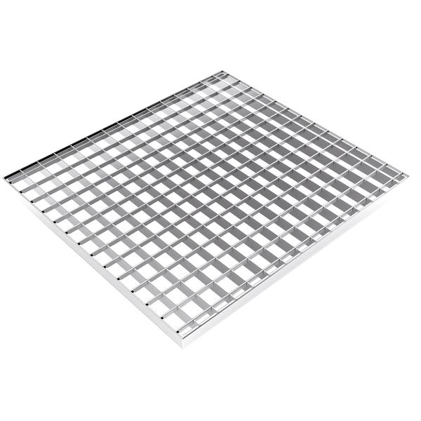 Axess Industries Caillebotis industriel résistant en acier   Dim. Lxl 1000 mm x 800 mm   Dim. ...