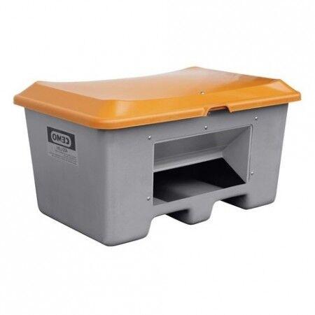 Axess Industries Bac à sel ou à sable avec ouverture d'écoulement et passage de fourches   Vol...