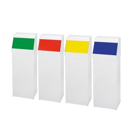 Axess Industries Poubelle de tri sélectif à trappe en acier   Coloris Bleu