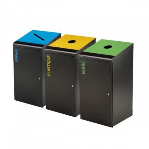 Axess Industries Borne de tri sélectif grand volume   Spécificité Jaune / Plastique