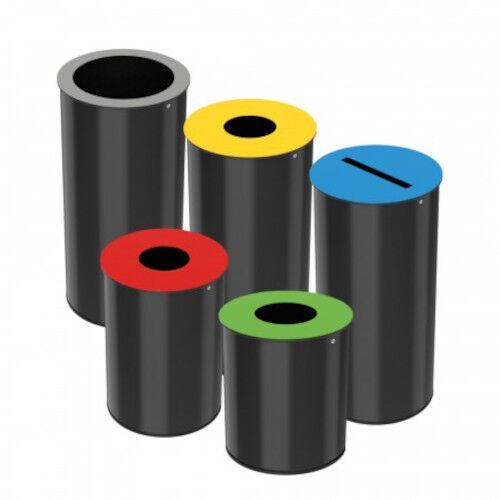 Axess Industries Poubelle de tri sélectif petit volume   Volume 15 L   Coloris Gris RAL 9022