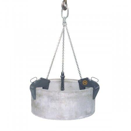 Axess Industries Pinces à regard béton tri-crochets   Charge 1500 kg   Type de surface Striée ...