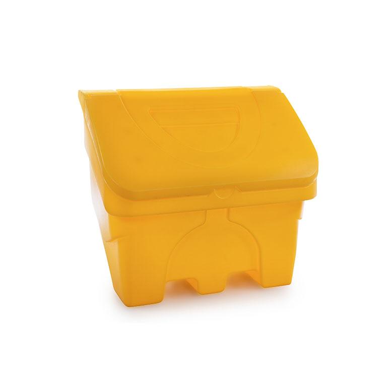 Axess Industries Bac à sel avec passage de fourches   Volume 130 L   Coloris Jaune