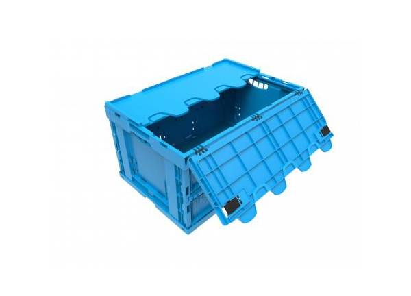 Axess Industries Bac Europe 600 x 400 pliable avec couvercle   Haut. ext. 220 mm