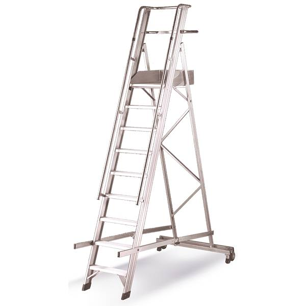Axess Industries Escabeau mobile repliable professionnel