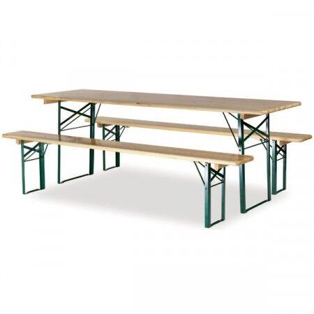 Axess Industries Table et banquettes de pique-nique pliable à piétement carré