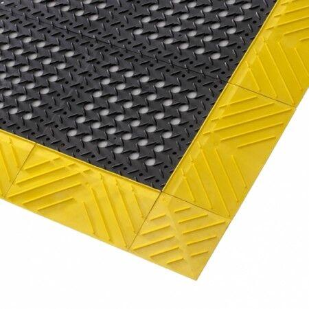 Axess Industries Caillebotis industriel alvéolé antifatigue en PVC   Noir   Dim. lxL 76 cm x 1...