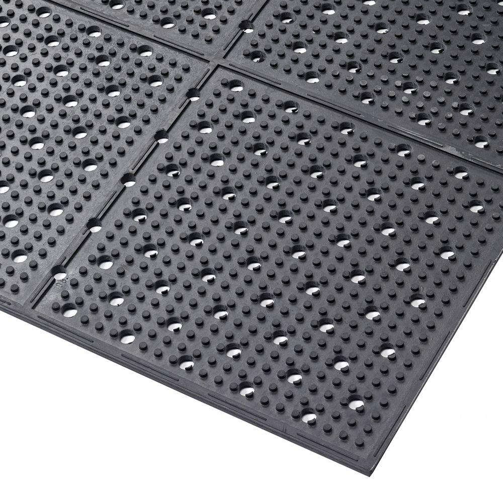 Axess Industries Caillebotis industriel antidéparant   Noir   Dim. lxL 91 cm x 122 cm
