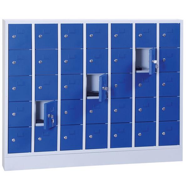 Axess Industries Armoire casier à effet personnel   Nbre de casiers 28   Fermeture à Clef