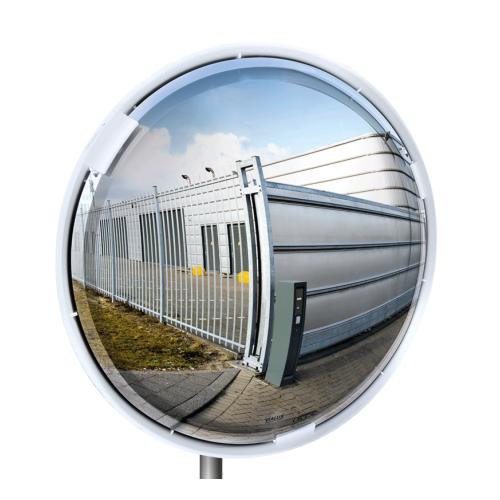 Axess Industries Miroir multi-usage avec cadre blanc contrôle 3 directions