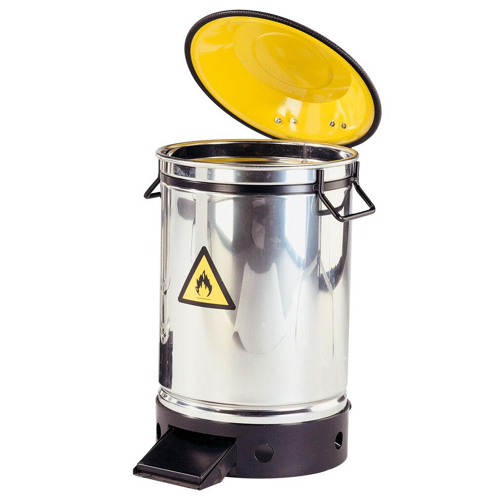 Axess Industries Poubelle de sécurité anti-incendie inox   Volume 20 L