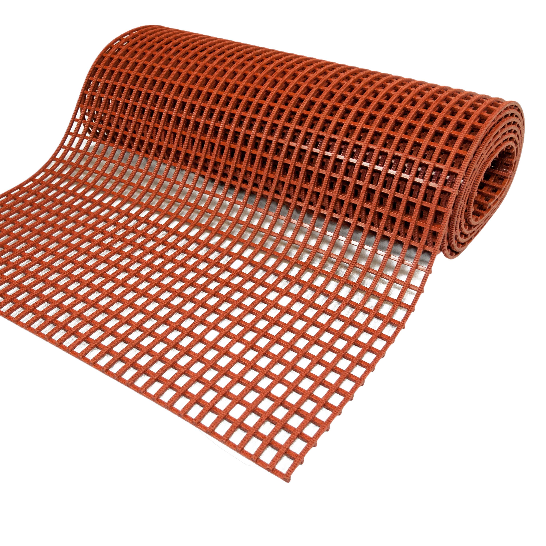 Axess Industries Caillebotis alimentaire antidérapant   Terre cuite   Dim. lxL 60 cm x 5 m