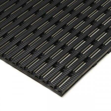 Axess Industries Caillebotis antidérapant pour tout milieux   Noir   Dim. lxL 75 cm x 10 m