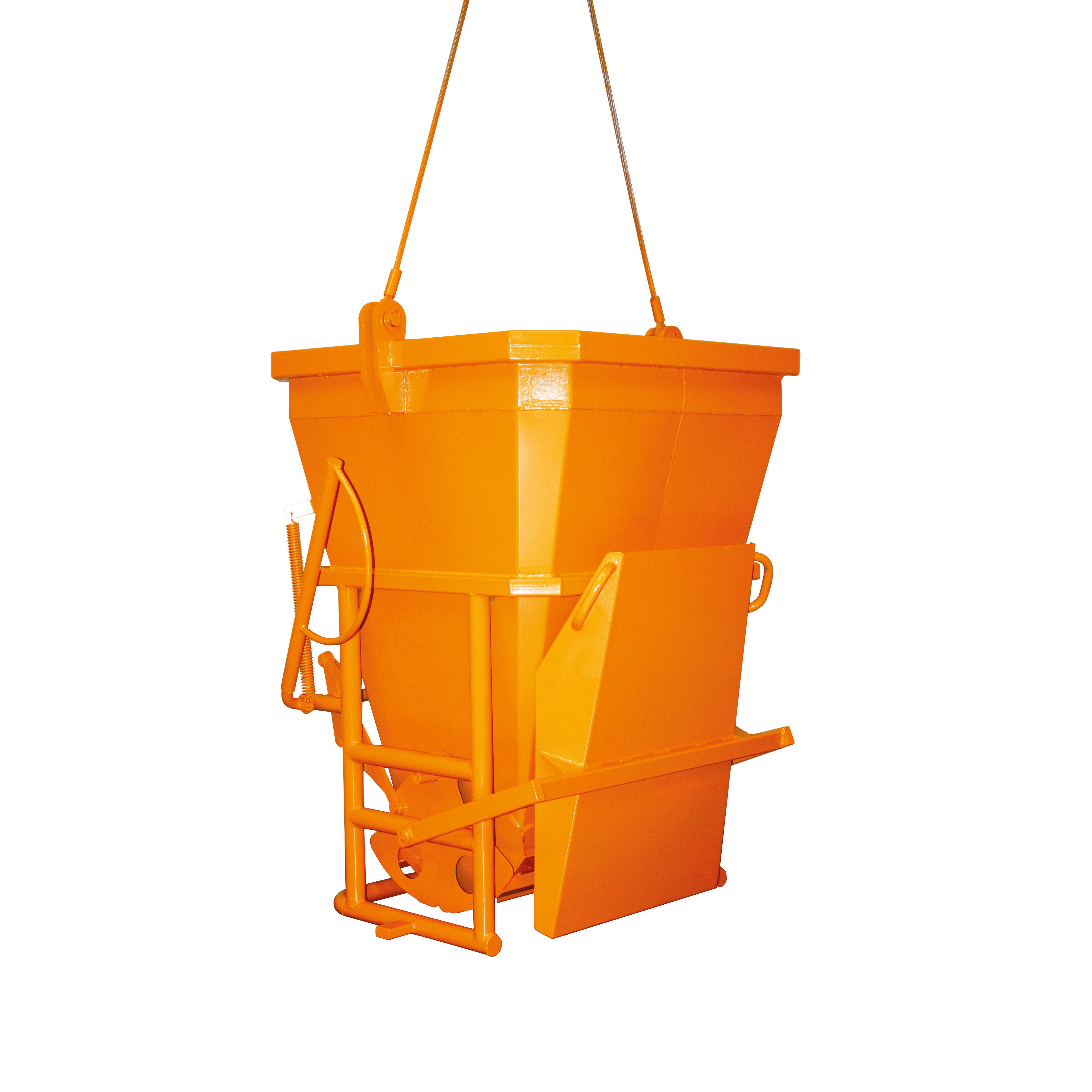 Axess Industries Benne à béton goulotte latérale rabattable   Volume 400 L