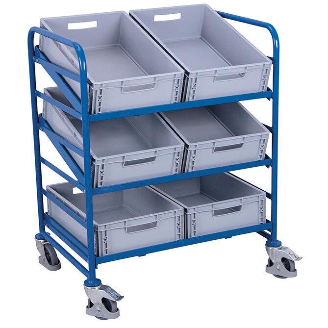 Axess Industries Chariot porte-bacs inclinable et réglable - pour 6 bacs
