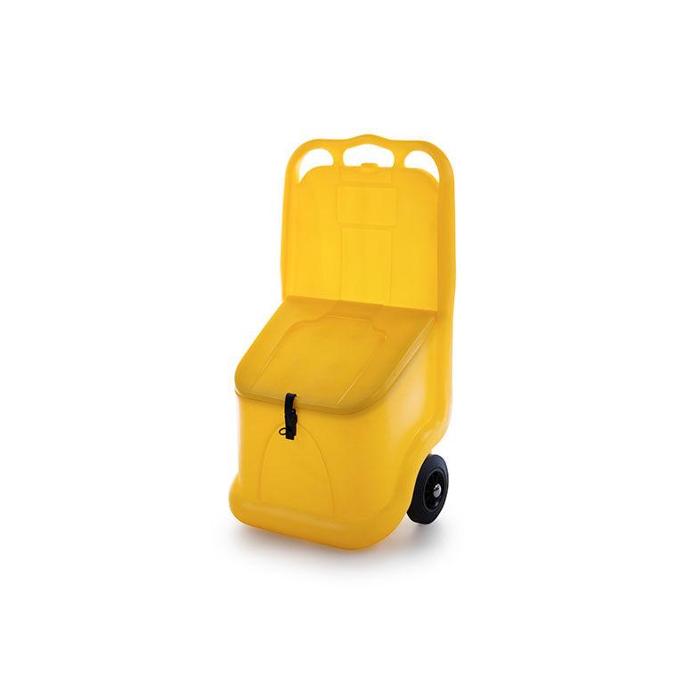 Axess Industries Bac à sel mobile   Coloris Vert   Volume 75 L