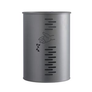 Axess Industries Poubelle murale en acier galvanisé ou en inox   Type Cylindrique   Coloris Vert