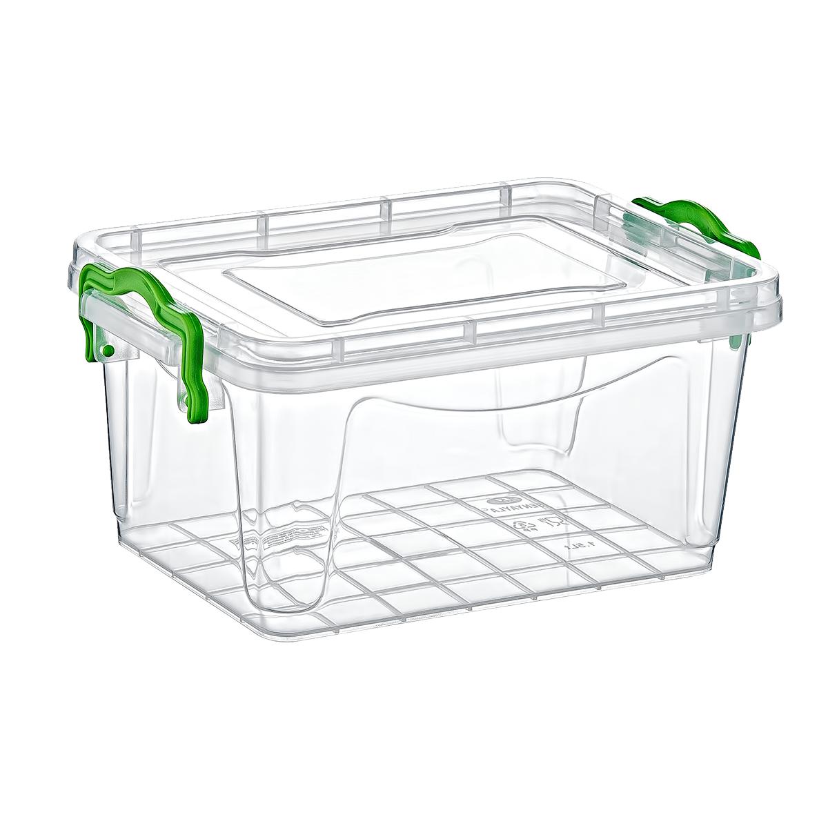 Axess Industries Boîte de rangement transparente   Haut. ext. 100 mm