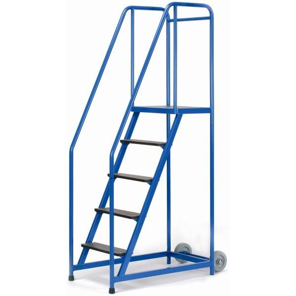 Axess Industries Escabeau mobile 2 à 5 marches   Haut. travail 2,3 m