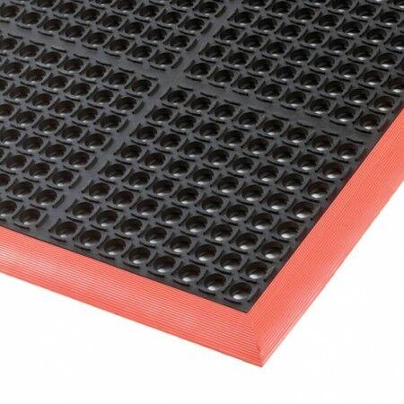 Axess Industries Caillebotis industriel antifatigue en nitrile   Noir   Dim. lxL 97 cm x 163 cm
