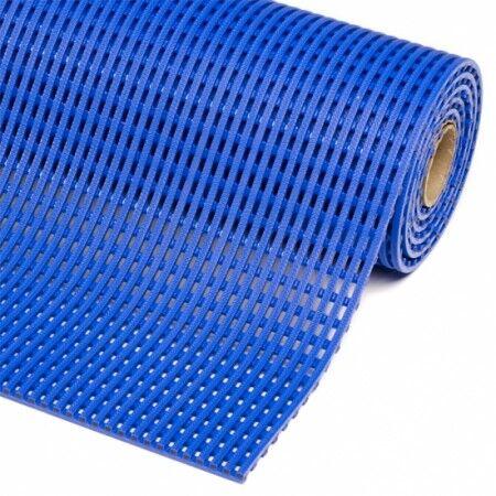 Axess Industries Caillebotis hygiénique PVC résistant aux UV   Bleu foncé   Dim. lxL 60 cm x m...