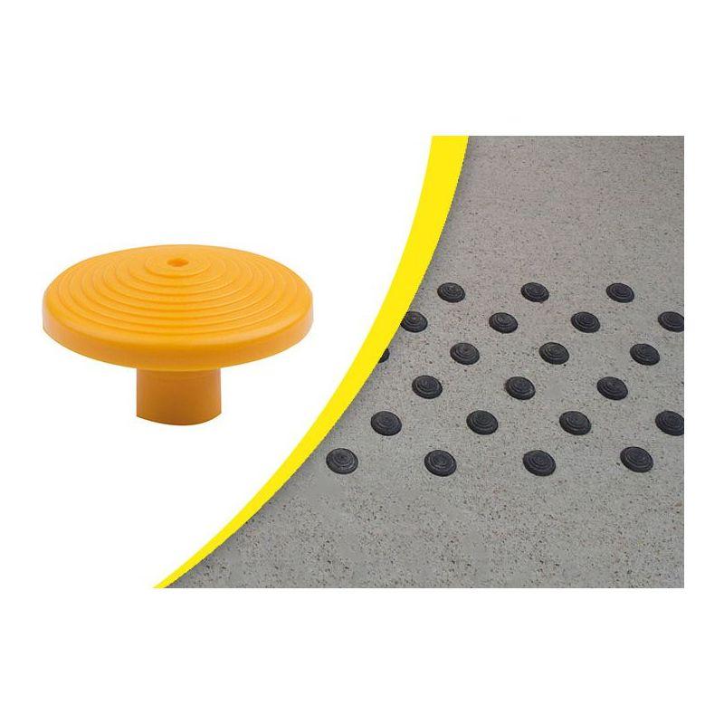 Axess Industries Lot de clous podotactiles d'éveil de vigilance à coller ou à sceller