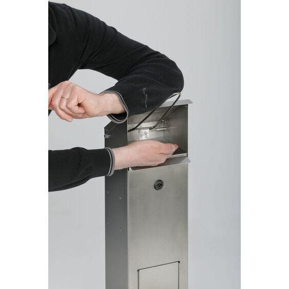 Axess Industries Distributeur sécurisé de gel hydroalcoolique   Conteneur à déchets Sans   Col...